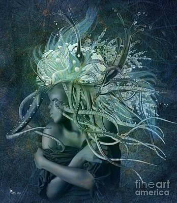 Digital Art - Goddess Of Tenticals by Ali Oppy