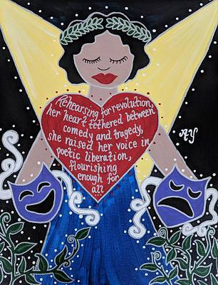 Painting - Goddess Of The Arts by Angela Yarber