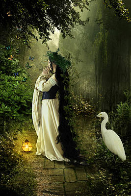 Digital Art - Goddess Of The Forest by Karin Claesson
