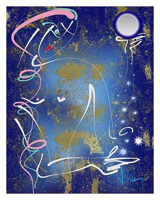 Mixed Media - Goddess Of The Night Sky by Larry Talley