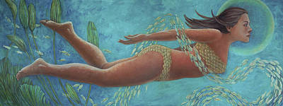 Painting - Goddess Of The Sea by Michel McNinch