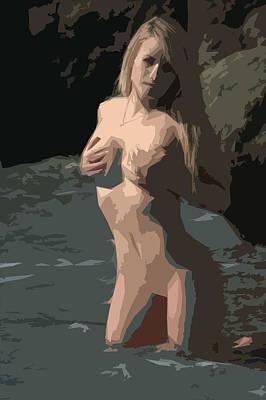Goddess Of Water Art Print by Brad Scott