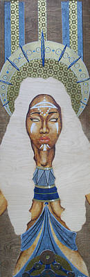 Mixed Media - Goddess On The Throne by Rufus Royster
