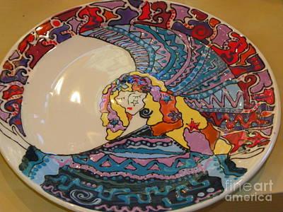 Ceramic Art - Goddess Plate by Lisa Dunn