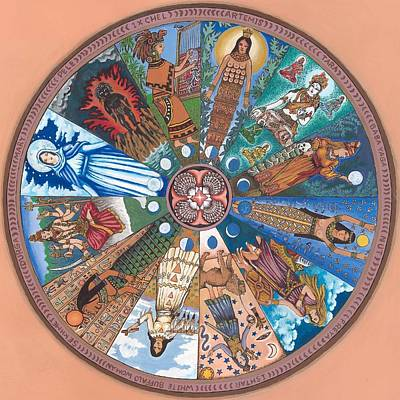 Painting - Goddess Wheel Wbwoman by James Roderick