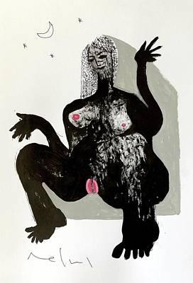 Drawing - Godess by Mark M Mellon