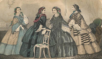 Godey 1858 #3 Art Print by Karen Szatkowski