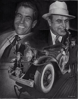 Automotive Drawing - Godfathers by Raoul Alburg