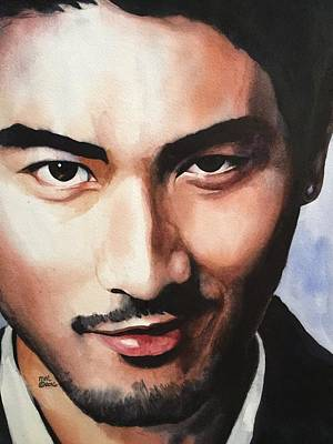 Painting - Godfrey Gao by Michal Madison
