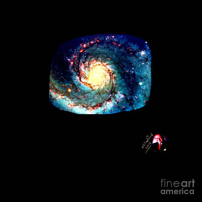 Godhood 2 - Whirlpool Galaxy Art Print by Richard W Linford