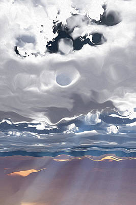 Digital Art - Godrays Cloud Series 3 by Brandi Untz