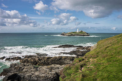 Photograph - Godrevy Lighthouse 3 by Lindy Grasser