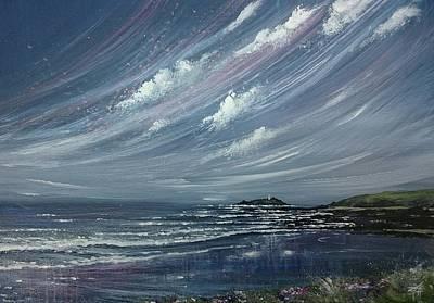 Painting - Godrevy Lighthouse  by Keran Sunaski Gilmore