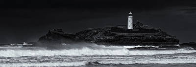 St Ives Wall Art - Photograph - Godrevy Lighthouse by Nigel Jones