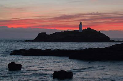 Photograph - Godrevy Lighthouse by Pete Hemington