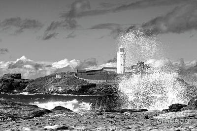 Photograph - Godrevy Splash Back by Terri Waters