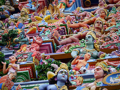 Photograph - Gods Above II - Kapaleeshwarar Temple by Richard Reeve