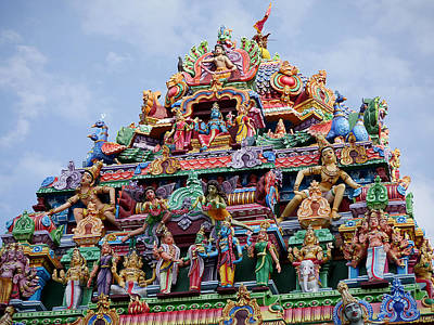 Photograph - Gods Above IIi - Kapaleeshwarar Temple by Richard Reeve