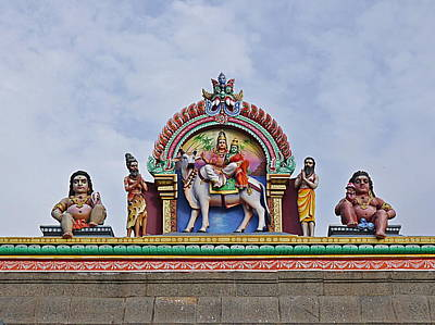 Photograph - Gods Above Iv - Kapaleeshwarar Temple, Mylapore by Richard Reeve