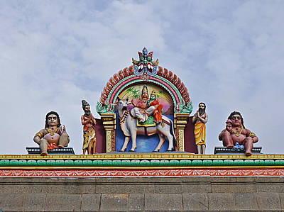 Photograph - Gods Above Iv - Kapaleeshwarar Temple, Mylapore by Richard Reeve