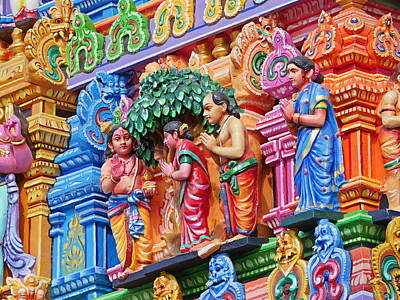 Photograph - Gods Above Ix - Kapaleeshwarar Temple, Mylapore by Richard Reeve