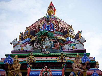 Photograph - Gods Above V - Kapaleeshwarar Temple, Mylapore by Richard Reeve