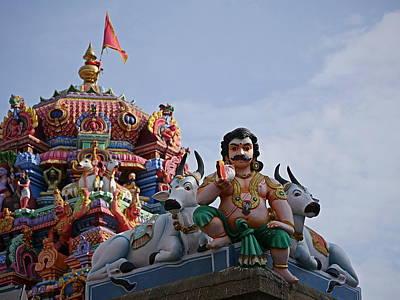 Photograph - Gods Above Vi - Kapaleeshwarar Temple, Mylapore by Richard Reeve