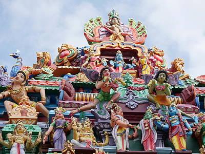 Photograph - Gods Above Vii - Kapaleeshwarar Temple, Mylapore by Richard Reeve