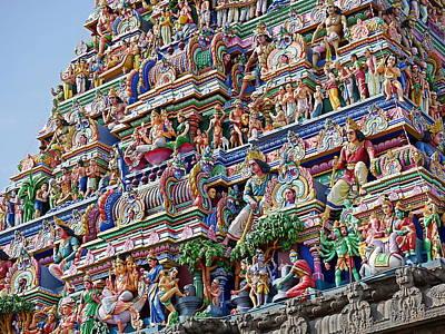 Photograph - Gods Above X - Kapaleeshwarar Temple, Mylapore by Richard Reeve