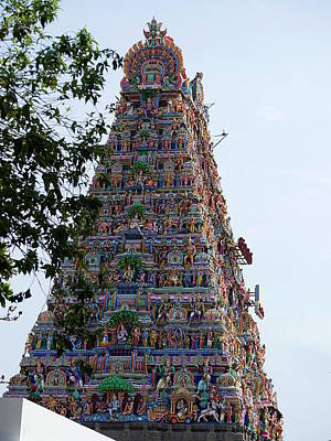 Photograph - Gods Above Xi - Kapaleeshwarar Temple, Mylapore by Richard Reeve