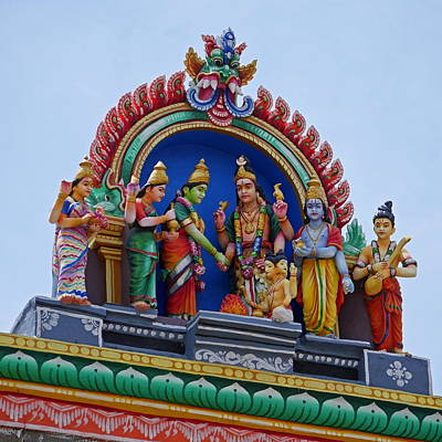 Photograph - Gods Above Xii - Kapaleeshwarar Temple, Mylapore by Richard Reeve
