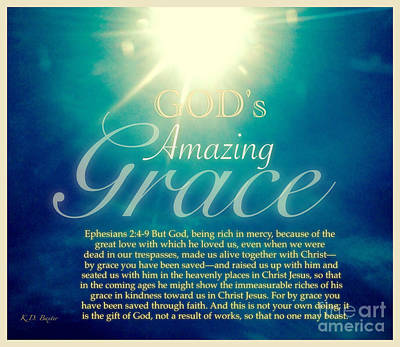 Photograph - God's Amazing Gift Of Grace by Kimberlee Baxter