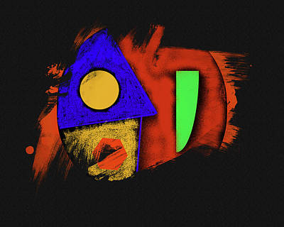 Digital Art - Gods Angry Fist by Robert Frank Gabriel