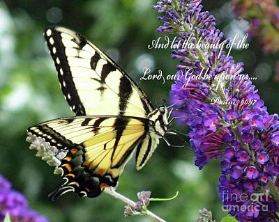 Featured Tapestry Designs - Gods Beauty - Eastern Tiger Swallowtail by Cindy Treger