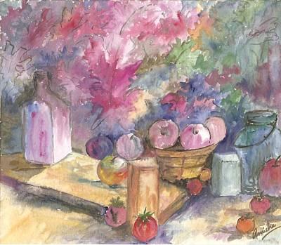 Canned Fruit Painting - God's Blessings by Anisha Bordoloi