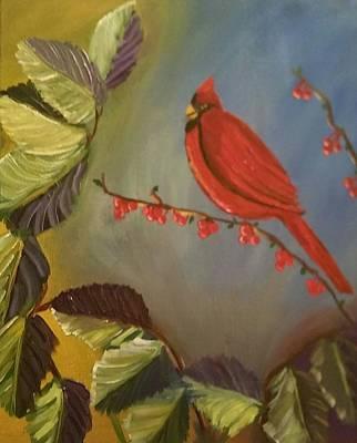 Gods Cardinal Promise Art Print