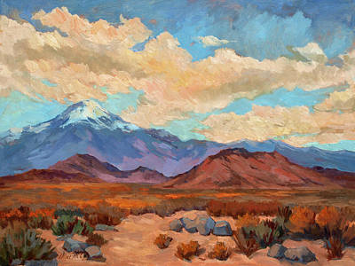 Rosa Painting - God's Creation Mt. San Gorgonio  by Diane McClary