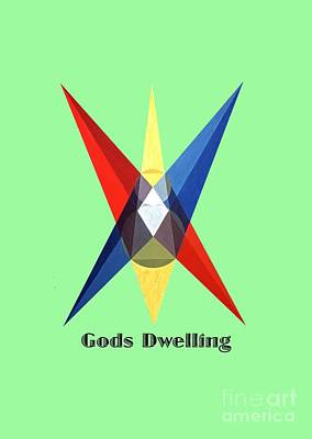 Painting - Gods Dwelling Text by Michael Bellon