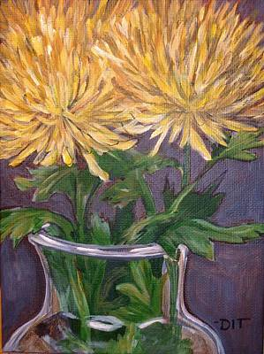 Painting - God's Fireworks by Denise Ivey Telep