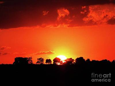 Photograph - God's Gracful Sunset by J L Zarek