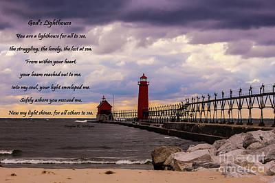 God's Lighthouse Art Print