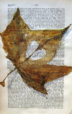 Maple Leaf Art Painting - Love Note From God by Maria Hunt