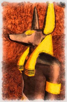Gods Of Egypt - Anubis Art Print