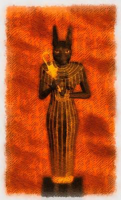 Gods Of Egypt - Bastet Art Print by Raphael Terra