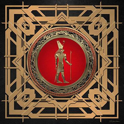 Digital Art - Gods Of Egypt - Horus by Serge Averbukh