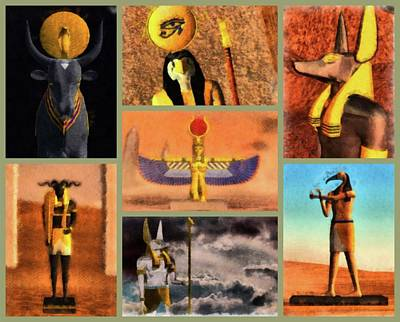 Animal Watercolors Juan Bosco - Gods of Egypt by Esoterica Art Agency
