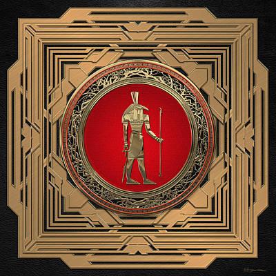 Digital Art - Gods Of Egypt - Thoth by Serge Averbukh