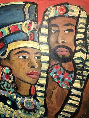 Gods Of Kemit  Original by Luther Wright