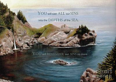 Painting - God's Promises To Us by Hazel Holland