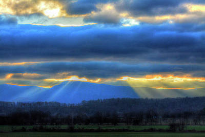 Photograph - God's Rays In God's Country by Don Mercer